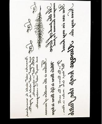 Tatuaggi scritte e lettere impermeabili e indipendenti