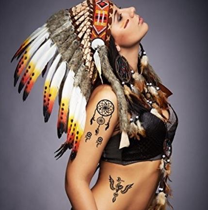 Tatuaggio acchiappasogni temporaneo da donna
