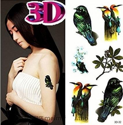 Tatuaggio 3d temporanei per il corpo
