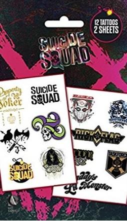 Tatuaggio joker suicide squad colorato