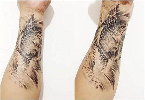 Tatuaggio temporaneo realistico carpa