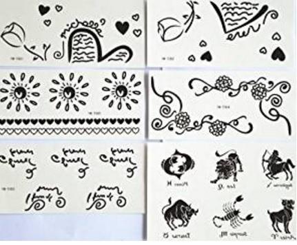 Scritte e tatuaggi temporaonei e molto belli