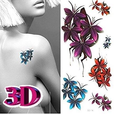 Tatuaggi unici e colorati tridimensionali