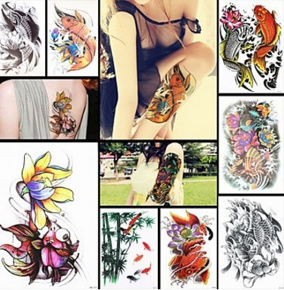 Tatuaggi colori carpa giapponese