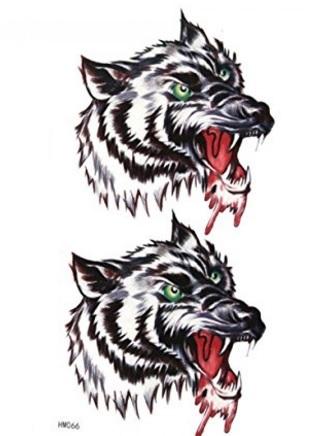 Tatuaggi lupi temporanei e impermeabili