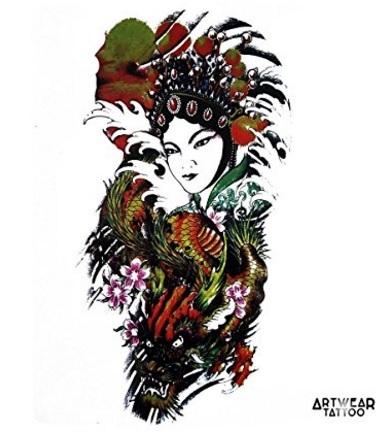 Tatuaggio dragon temporaneo realistico