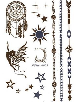 Luna tatuaggio colorata e molto bella