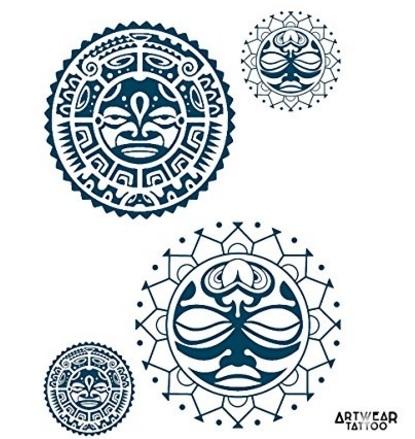 Tatuaggio temporaneo maori 4 pezzi