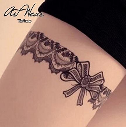 Tattoo realistico dentelles a