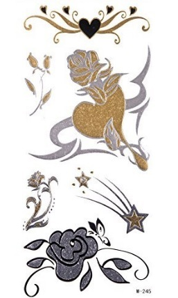 Tattoo stelle gold e metal