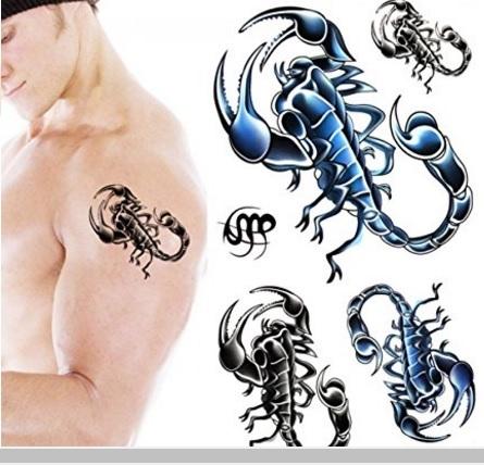 Tatuaggio colorato scorpione temporaneo
