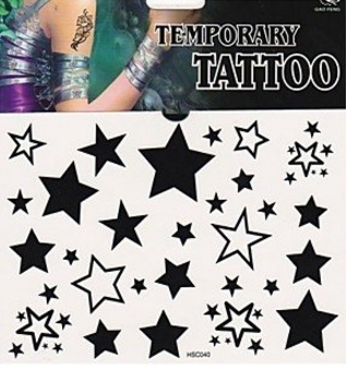 Stelline tatuaggi provvisori e temporanei