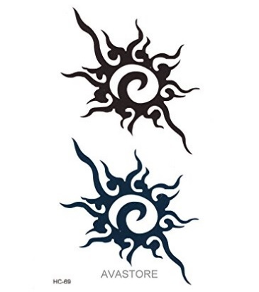 Tatuaggi sole tribale temporaneo