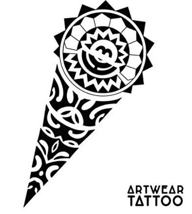 Tatuaggio temporaneo e realistico maori