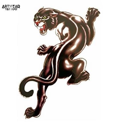 Tatuaggio pantera animale realistico