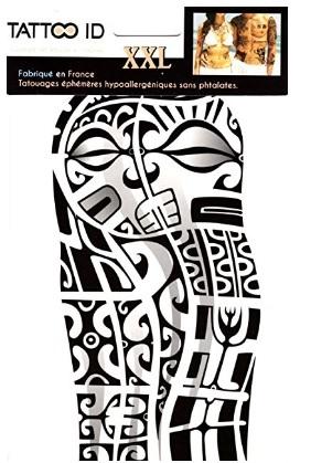 Tattoo corpo tribale maori temporaneo
