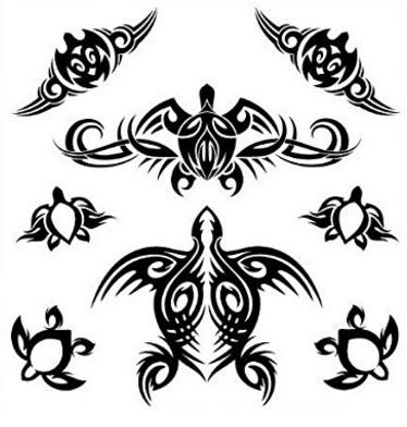Tattoo idea tartarughina tribale