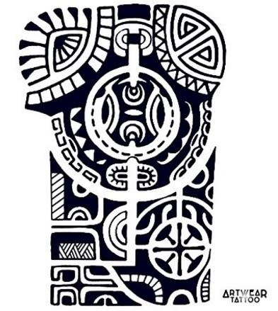 Tattoo maori per il braccio temporaneo