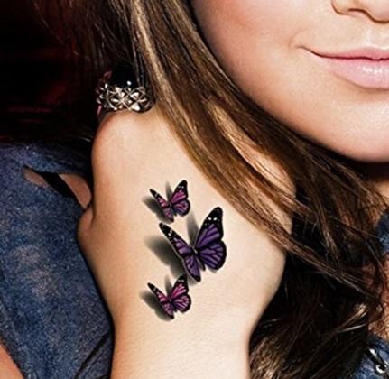 Farfalla tattoo impermeabile temporaneo