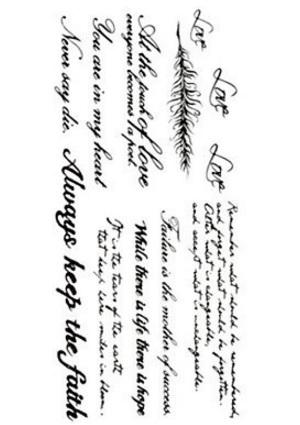 Scritte e lettere impermeabile temporanei