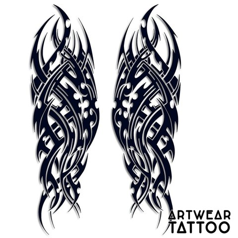 Tattoo realistico tribale braccio