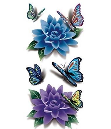 Farfalla tatuaggio temporanei colorate