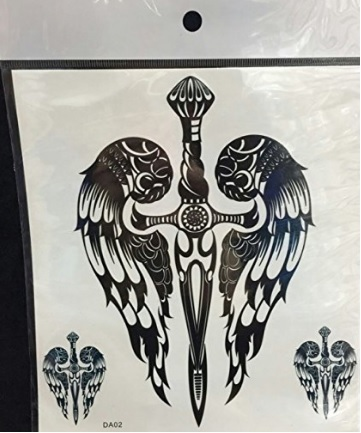 Ali d'angelo tatuaggio stile dark