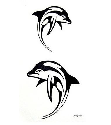 Tatuaggio delfini temporanei e impermeabili