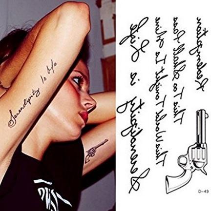 Scritte temporanee tattoo body art