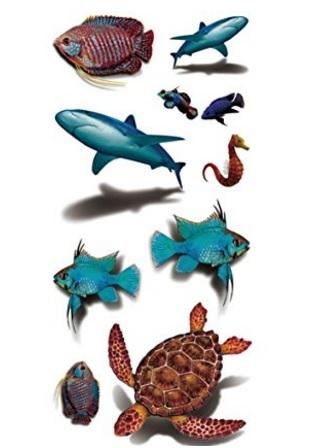 Tatuaggio tartaruga temporaneo standard e colorato