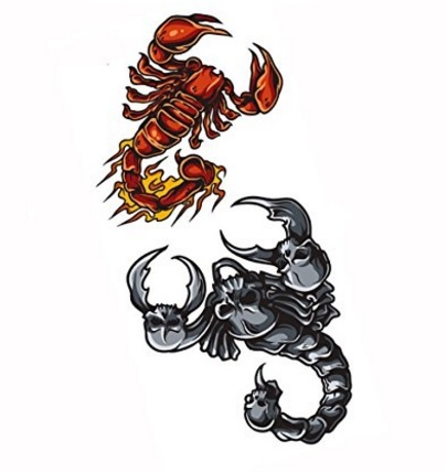 Scorpione tattoo temporaneo sticker impermeabile | Grandi Sconti | Tatuaggi - Tattoo Temporanei