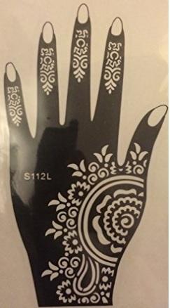 Tatuaggio hennè stickers 5 fogli diversi