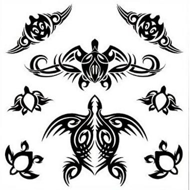 Tartarughine polinesiane tattoo temporanei