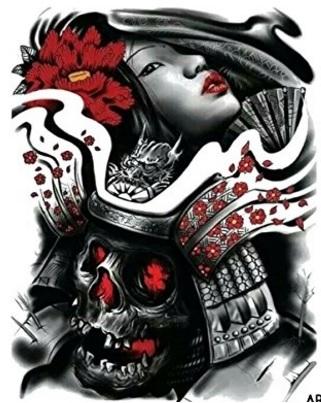 Samurai tattoo temporaneo