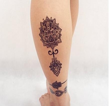 Tatuaggio temporaneo hennè mandala