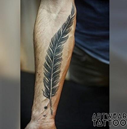 Tatuaggi temporanei realistici writer feather