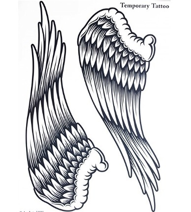 Tattoo ali angelo grandi temporaneo