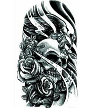 Tatuaggio dark teschio volto