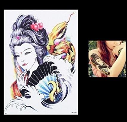 Tatuaggio temporaneo giapponese serpente