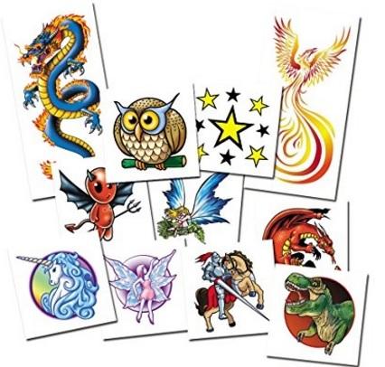 Tatuaggi fantasy per bimbi testati dermatologicamente