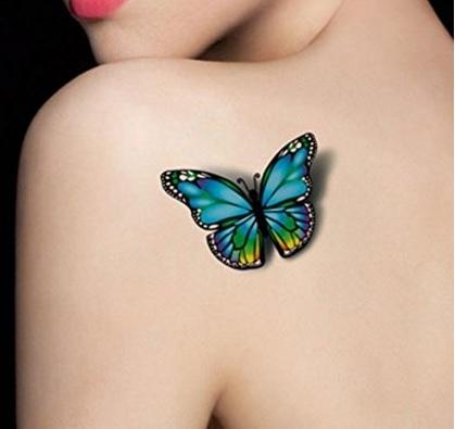 Tatuaggi impermeabile temporanei farfalla