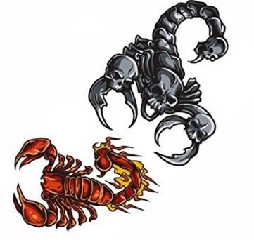 Tattoo colorati scorpioni segno zodiacale
