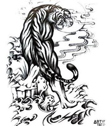 Tattoo tigre realistico facile da applicare