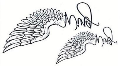 Ali Tatuaggio Adesivo Body Art
