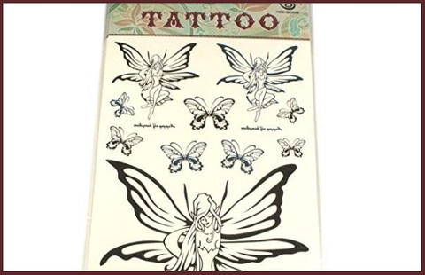 Tattoo elfo e farfalle unisex