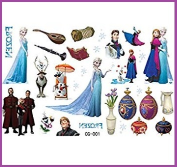 Tattoo personaggi frozen