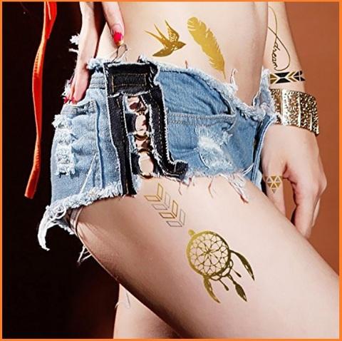 Tattoo temporanei fai da te dal colore oro