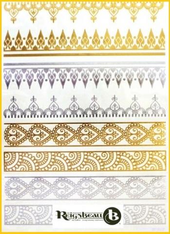 Tatoo temporanei oro stile hennè