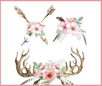 Tattoo temporanei fiori fogli