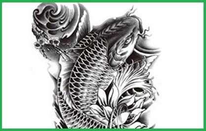 Tatuaggio Realistico Carpa Giapponese